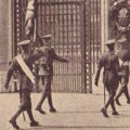 New guard entering Buckingham Palace, 20 Aug 1929.