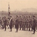 The old guard at Buckingham Palace, 21 Aug 1929.