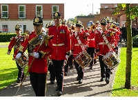 Dedication of the Royal Lincolnshire Regiment Memorial, Lincoln, 6 oct 2012.