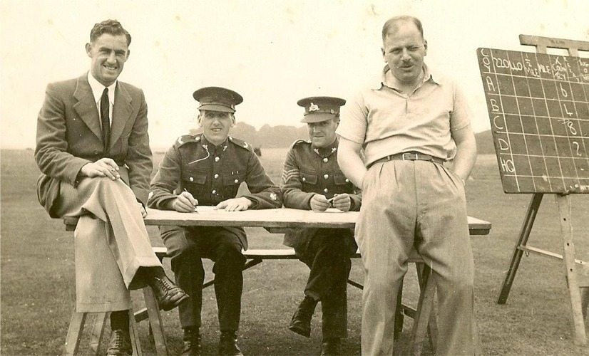 Granddad, seated on left. Regimental Sports Day perhaps 1931/2/3