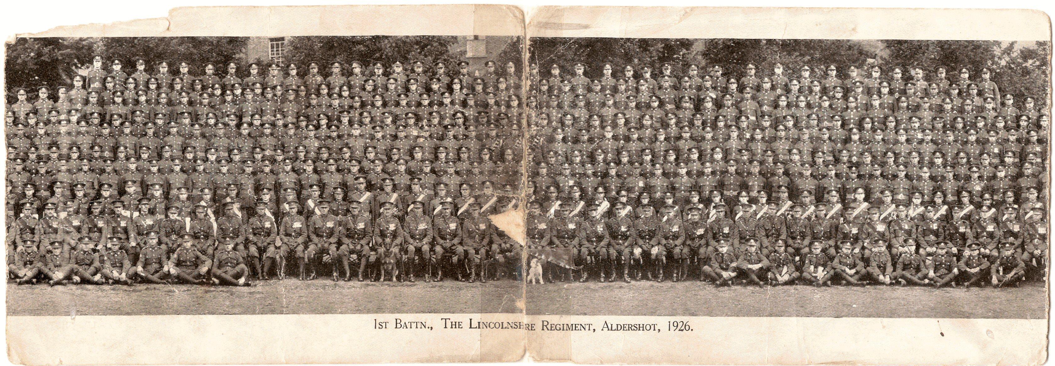 Card, 1st Bn. 1926