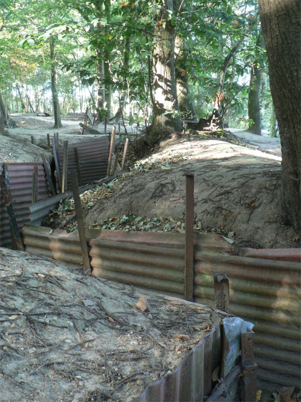 Preserved WW1 Trenches, near Ypres, 2009. (Photograph: Katrina Bradley)