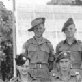 1946: 2 Btn. NCO's Small Arms Course, Singapore.  The Lincolns (wearing Bush Hats) are Sgt J Tegerdine, Sgt K Barnes & CSM W Brandreth.
