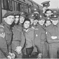 1948: 1st Btn, The Royal Lincolnshire Regt, leaving Lincoln by train.  Destination: Egypt.