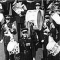 1952: Royal Lincolnshire Regiment Band & Drums parading down the upper High Street. Lincoln.