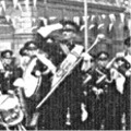 1953: 1 Btn Royal Lincolnshire Regt Band & Drums in Silver St, Lincoln with a Company of soldiers from Sobraon Barracks.