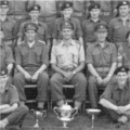 1960: HQ Company, 4/6th Lincolns at Camp.  Carnoustie, Scotland.