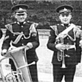 1964: Lincoln lads of 4/6th Btn, The Royal Anglian Regiment Band & Drums. Lincoln Castle.