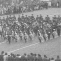 1967: Massed Bands & Drums of the Midland Brigade TA on parade to mark the disbandment of the TA bands. September 1967.
