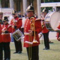 The Minden Band at Lincoln Castle, 2005.