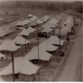 Camp at Kuala Kuang, taken from the machine gun tower. A Coy. 1957.