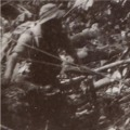 Pte Warrior in jungle. 1957.