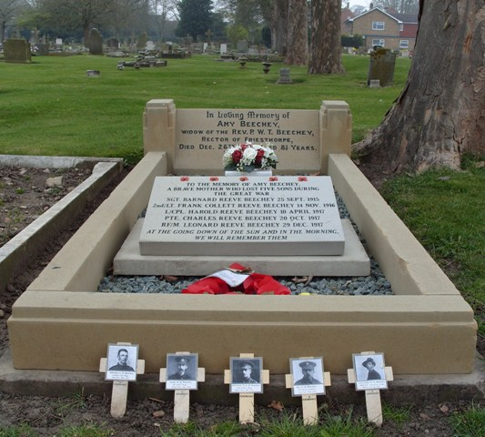 Amy Beechey's Grave, Newport Cemetery, Lincoln (photographed by A Garrod, 2009)