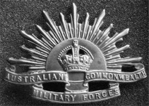 A.I.F. Rising Sun badge