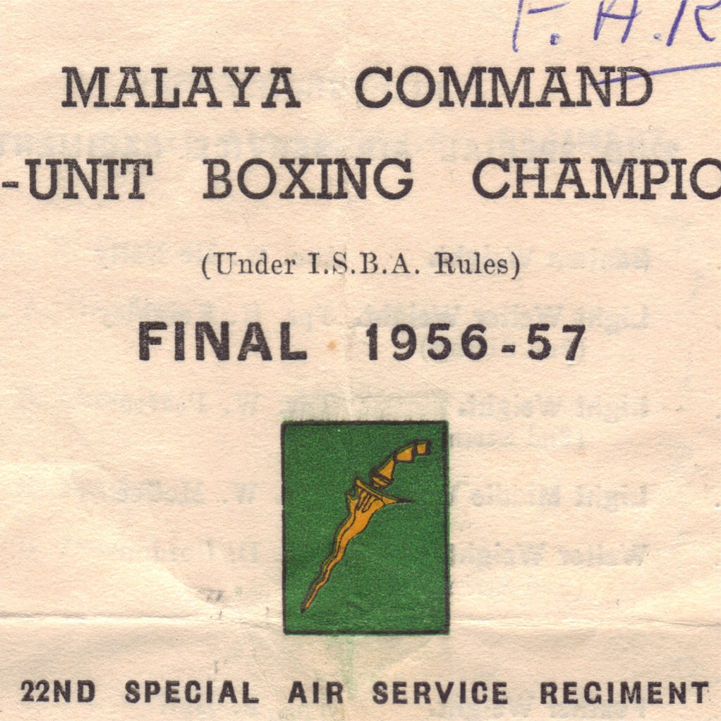 Malaya Command, Inter-Unit Boxing Championships Final 1956-57 (page 1)