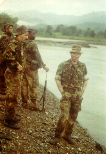 'A' Company, the Bermuda Regiment. Blue Mountains, Jamaica, 1996.