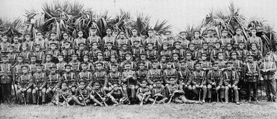 1st BVRC Overseas Contingent, training in Bermuda. Winter, 1914.