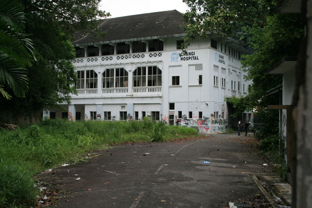 The old Changi Hospital - photographed in May 2009.