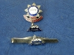 Regimental Association badge and tie clip