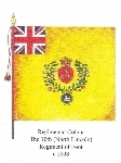 Regimental Colour, The 10th (North Lincoln) Regiment of Foot, c.1808.