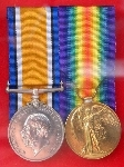 Great War medals, Pte Richardson, Lincoln's.