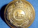 Lincolnshire Regiment button WW1.