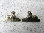 Pair, Pre 1946 ORs collar badges.