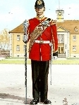 Postcard: Drum Major, Royal Anglian Regiment.