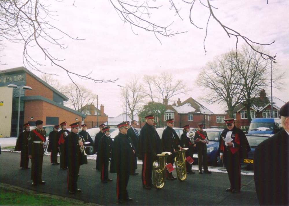 Interment of the ashes of Harold Fieldhouse, 8 February 2009.