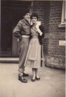 Frank and Iris, Sobraon Barracks, Lincoln, 1958.