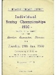 3rd Infantry Brigade District Individual Boxing Championships - 1950 programme, dated 24th January 1950 (front cover)