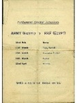 Army (Egypt) Individual Boxing Championships Finals - 1950 programme, dated 3rd February 1950 (rear cover)