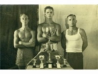 Royal Lincolnshire Regiment unknown boxers & trophies - Middle East, 1947-50
