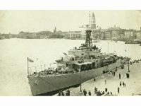 HMS Cardigan Bay (F630) - Venice, June 1948.