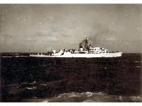 HMS Cardigan Bay (F630) at sea, undated.