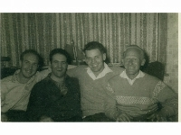 Fred Wragg, Eric Danks & 2 unknown ex-Lincolns - Birmingham, mid-1957.
