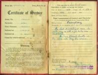 Certificate of Service (inside)