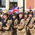Soldiers of the 2nd Battalion 'Poachers', The Royal Anglian Regiment - amongst friends.