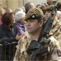 2nd Battalion (Poachers) The Royal Anglian Regiment, Homecoming Parade, 12 March 2009.  Photographer: Andy Botley © All rights reserved.