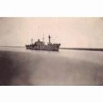 Ship passing through Suez Canal