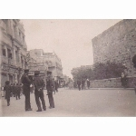 Jaffa Gate, Jerusalem. During Arab Strike. 2 March 1946