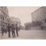 Jaffa Gate, Jerusalem. During Arab Strike. 2 March 1946