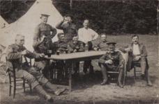 C W Hawley, seated, rear
