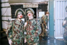 Red Nose Day, Belfast 1989. A (Lincolnshire)Coy, The Poachers.