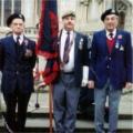 Charlie Donnor, Derek Hocking and Alan Sleaford. Standard Party, Lincoln War Memorial, 1989.