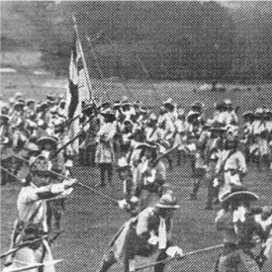 The Battalion making ready to receive a cavalry charge