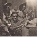 Sgt Morris and Pts Evans,Dunning, Lewis, Grant. Padang, Jan 1946.