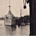 British Destroyer 60 miles inland, on the river at Palembang