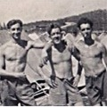 Pts Payne, Barry and Pepperell, Transit Camp, Singapore