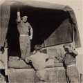 Unloading the ration truck